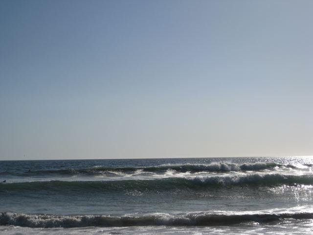 Tide coming up at playa negra