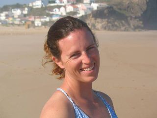 Amy Waeschle between session in Portugal