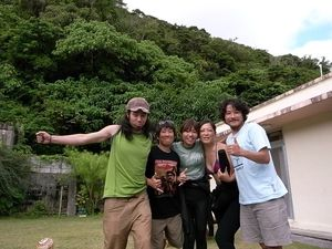 Patagonia members, Sho, Hiroyo, Toshimi, Yoko and Tetsu(from left to right)
