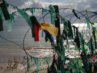 People's prayers for peace and a beautiful ocean