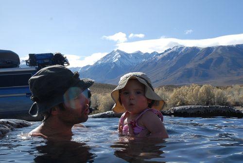Violet hot spring
