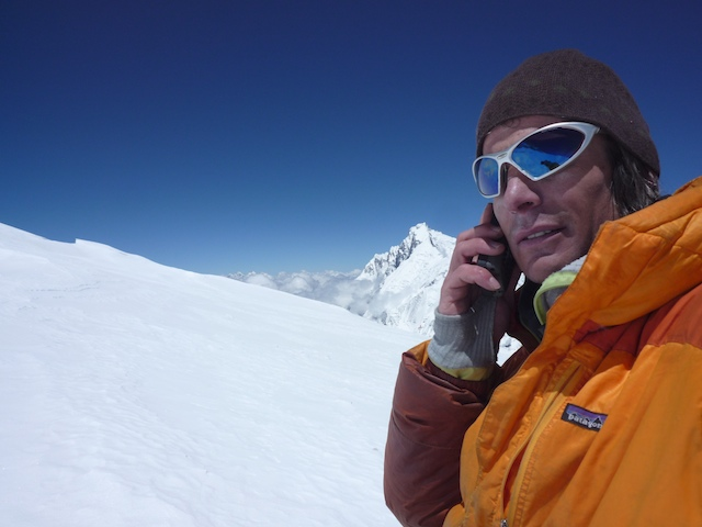 Steve on Sat Phone 2009