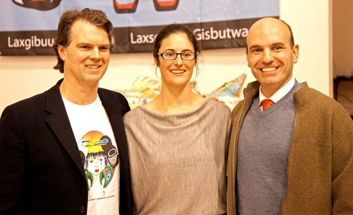 MP FIn Donnelly, Swimmer Ali Howard, Opposition HOuse LEader Nathan Cullen