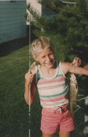 Young bridget with fish 001